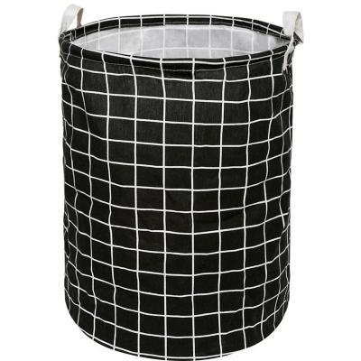 Canasto cuadros 40x50 cm negro