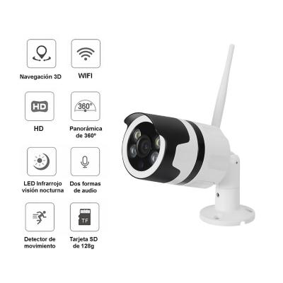 Cámara seguridad IP WIFI Exterior Full HD 1080P