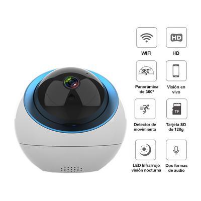 Cámara robótica seguridad IP WIFI 360° Full HD