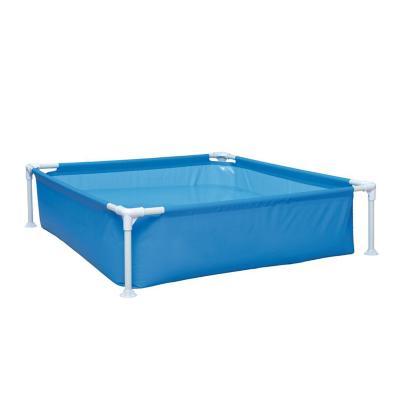 Piscina estructura para niños 33x122x122 cm azul