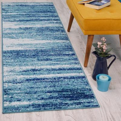 Alfombra Siesta Pasillo Azul 70x230 cm