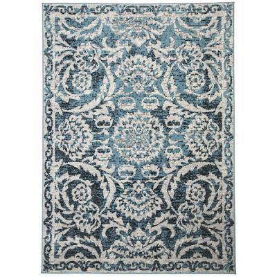 Bajada De Cama Kashan King Azul 60x90 cm