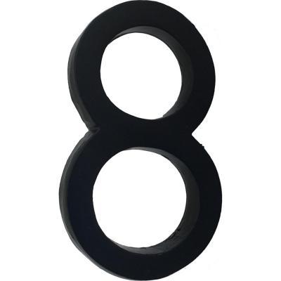 Número 8 fierro 10 cm negro
