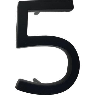 Número 5 fierro 10 cm negro