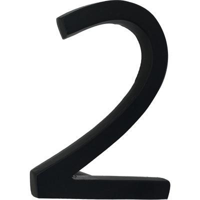 Número 2 fierro 10 cm negro