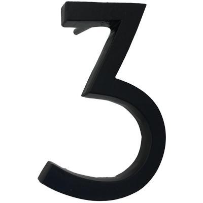 Número 3 fierro 10 cm negro
