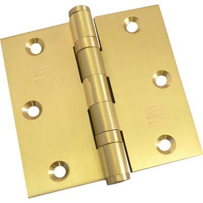 "Bisagra 3½""x3½"" bronce sólido satinado blister"