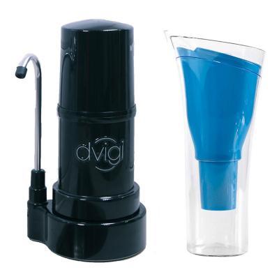 Filtro sobre cubierta Negro + Jarro Azul