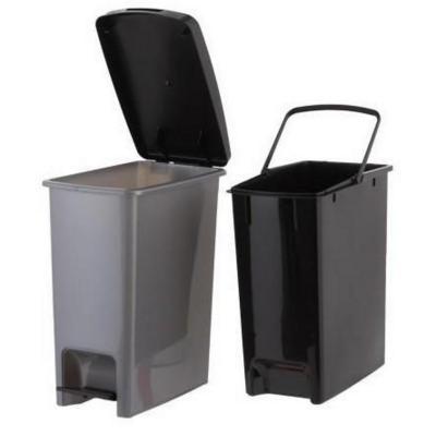 Basurero Pedal Clínico metálico negro 13 litros