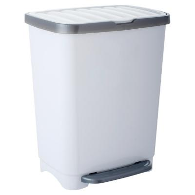 Basurero Pedal Blanco gris 25 litros