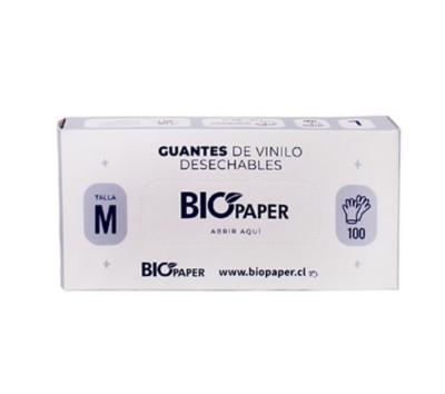 Guante de Vinilo Blanco T-M 100 Unidades