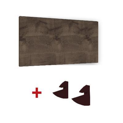 Repisa + Soporte - CHOCOLATE 90×25x1,5cm MDP-KIT