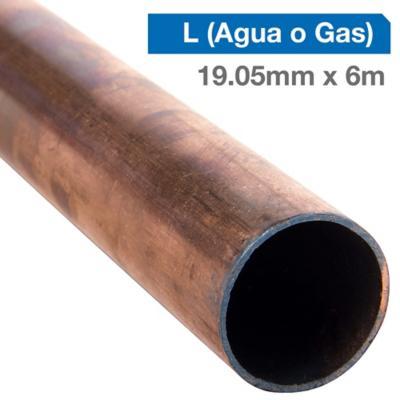 """Cañería Cobre L Gas-Agua 3/4"""" x 6m"""