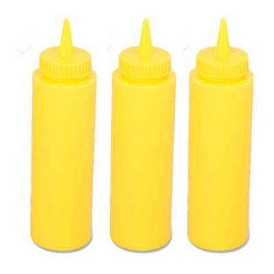 Set 3 Dispensador salsa plástico amarillo