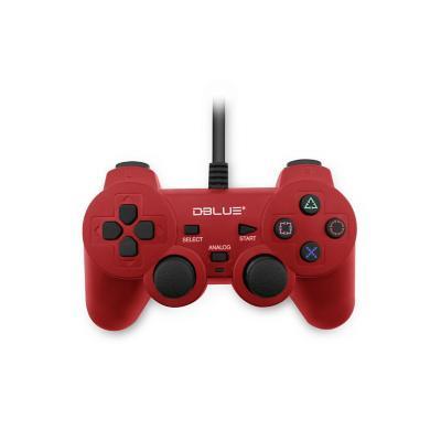 Control Joypad USB Doble Vibración PC / Rojo