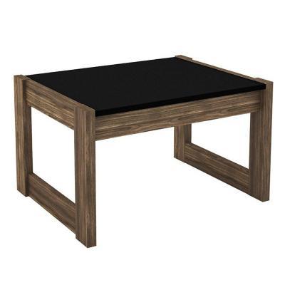 Mesa de centro 35,5x59x45,5 cm nogal negro
