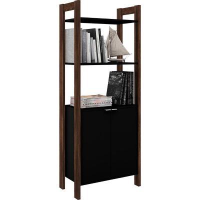 Gabinete 2 puertas 166x65x36 cm negro nogal