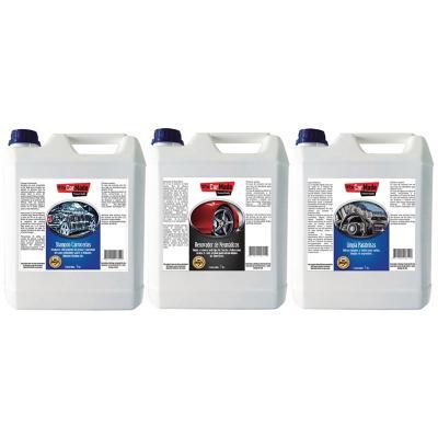 Pack auto renovador + shampoo + Limpia llantas 5 L