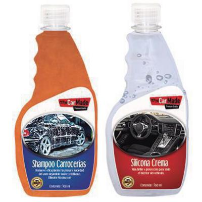 Mantención Auto Kit-500 ml Shampoo+Silicona Crema