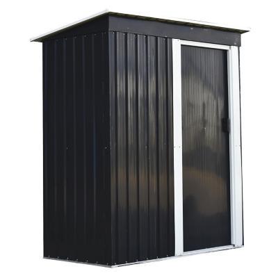 Bodega de jardín metal 181x162x86 cm negra