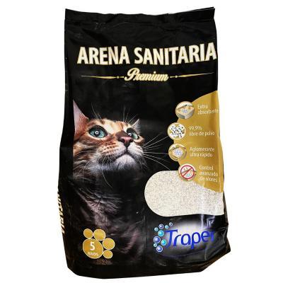 Arena sanitaria para gato premium de 5 kilos