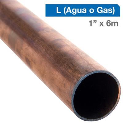 """Cañería Cobre L Gas-Agua 1"""" x 6m"""