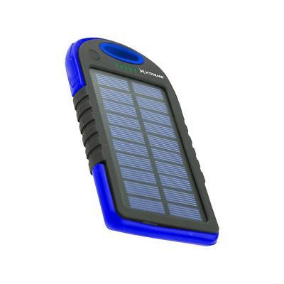 Batería externa portátil solar 5000 mah Azul