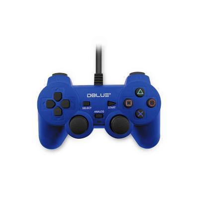 Control Joypad USB Doble Vibración PC Azul
