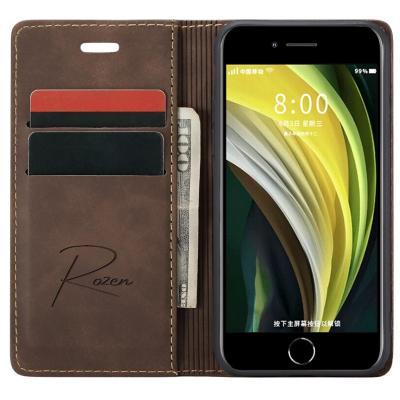Billetera iPhone 7/8/SE Café Oscuro
