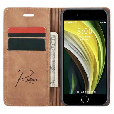 Billetera iPhone 7/8/SE Café Claro