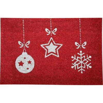 Limpiapies coco glitter Christmas star 40x60 cm