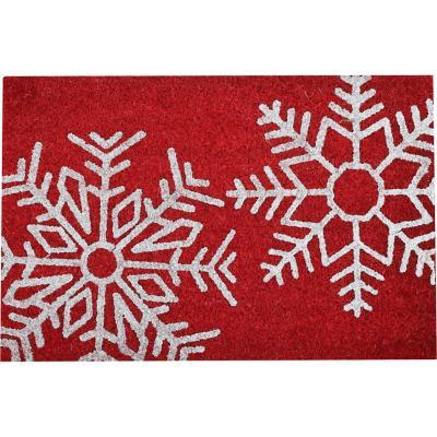 Limpiapies coco glitter Christmas snow 40x60 cm