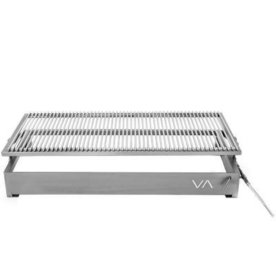 Parrilla empotrable barra 100x50cm+Pala atizador