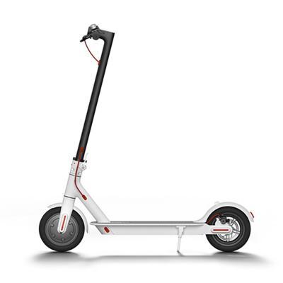 Scooter eléctrico urbano a batería blanco