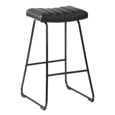 Piso de Bar Acolchado Negro 73,5x31x43 cm