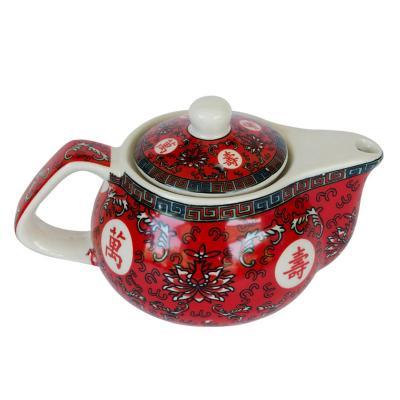 Tetera de cerámica con filtro Rojo 250 ml