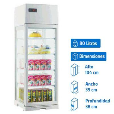 Vitrina refrigerada capacidad 80 litros