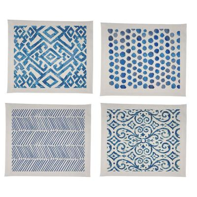 Set 4 individuales Impermeables azul