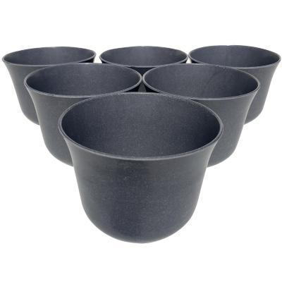 Set 6 Macetero Biodegradables Curvo, 6 gris
