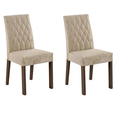 Set 2 sillas 57x45x95 cm crema