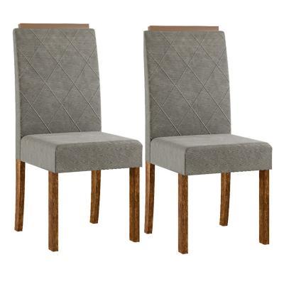 Set 2 sillas 52x40x101 cm gris