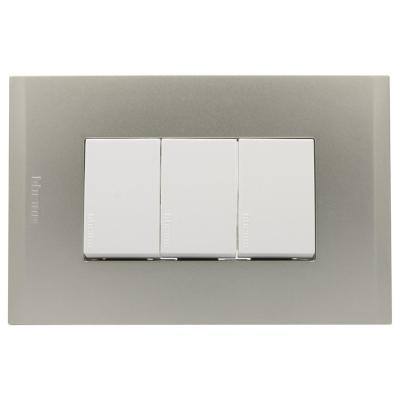 Interruptor triple 10ax bl pl3p perla nóbile
