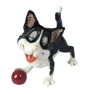 Figura Cat Lover polistone 11 cm Portalentes