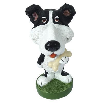Figura Dog Lover polistone 8 cm portalentes