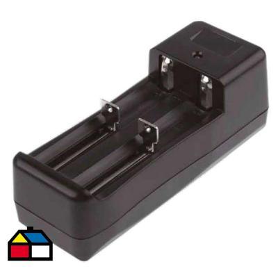 Cargador de Doble Batería Negro