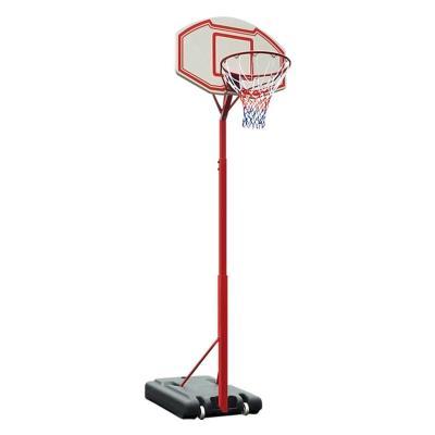 Pedestal Basquetbol Escolar acero rojo