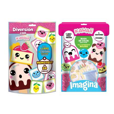 Set kawaii Libro stickers juegos moldes y masas
