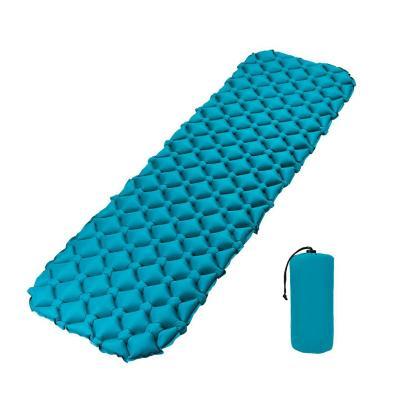 Colchoneta inflable outdoor camping azul
