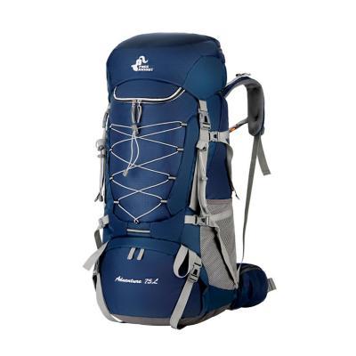 Mochila 75 lts impermeable outdoor trekking azul