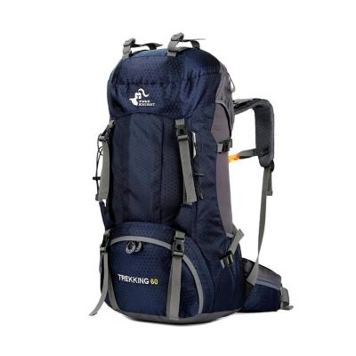Mochila 60 lts transpirable outdoor trekking azul